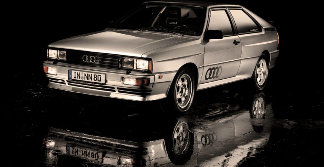 Audi Quattro på bilutstilling i Geneve